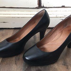 Clarks Indigo Leather Heels